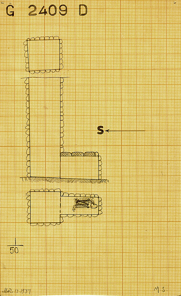 Maps and plans: G 2409, Shaft D