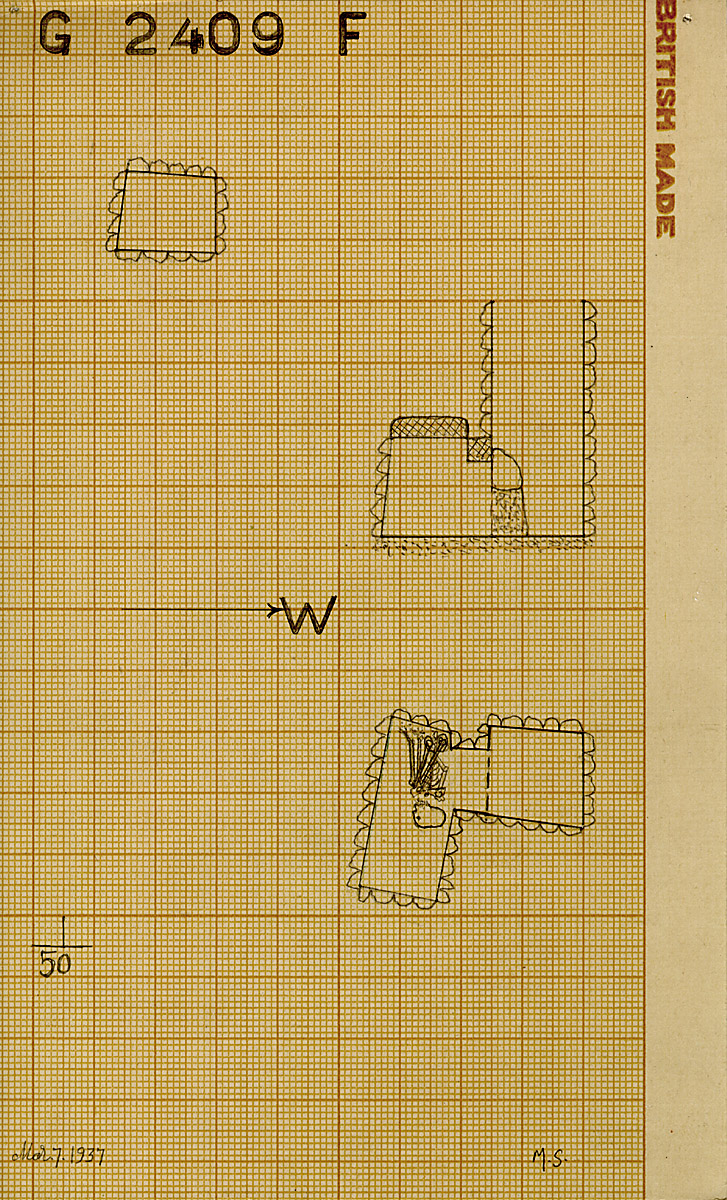 Maps and plans: G 2409, Shaft F