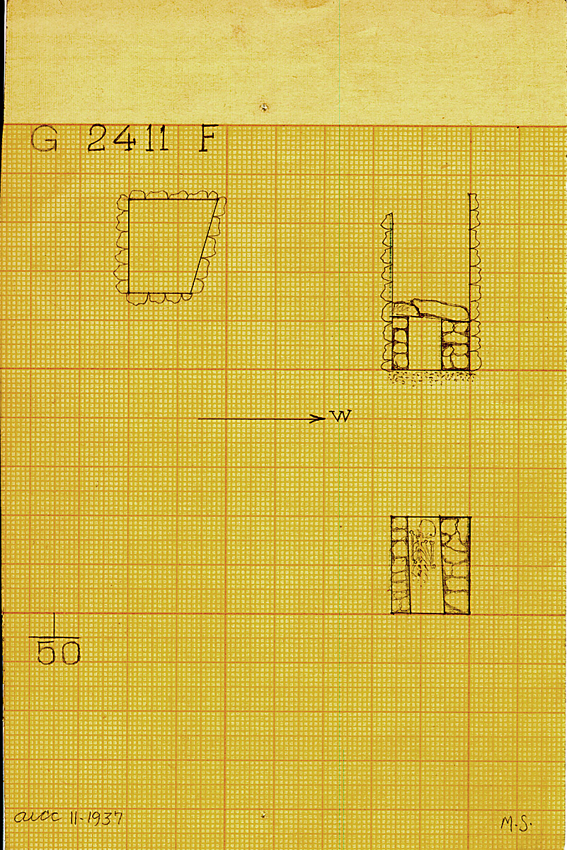 Maps and plans: G 2411, Shaft F