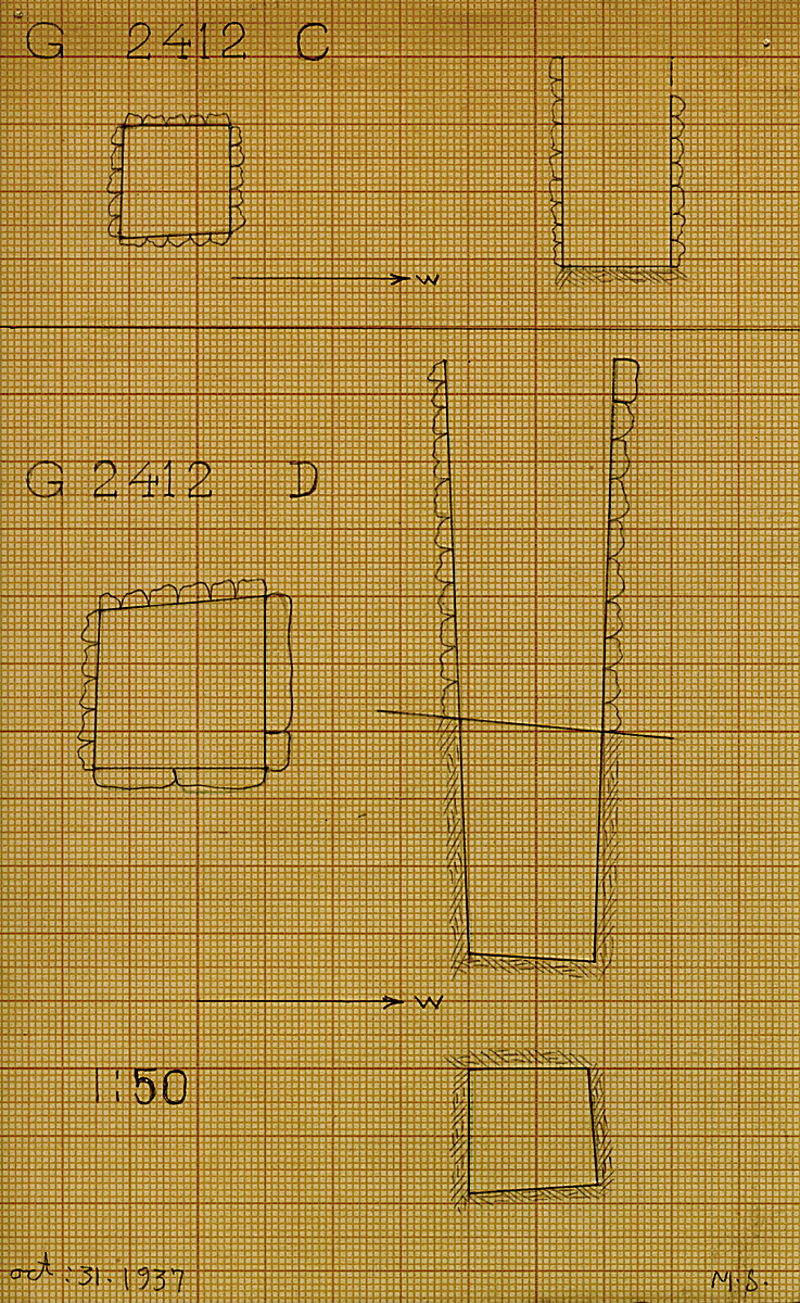 Maps and plans: G 2412, Shaft C and D