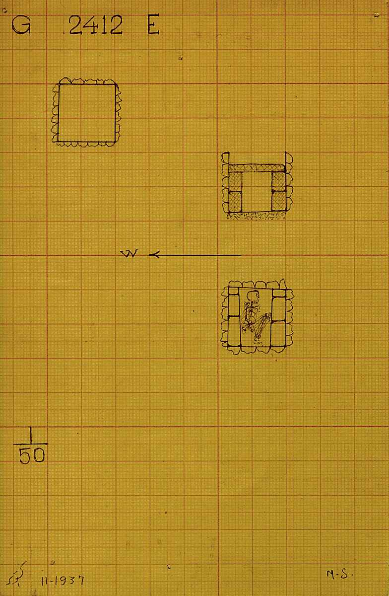Maps and plans: G 2412, Shaft E