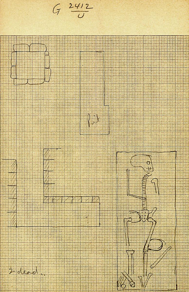 Maps and plans: G 2412, Shaft U
