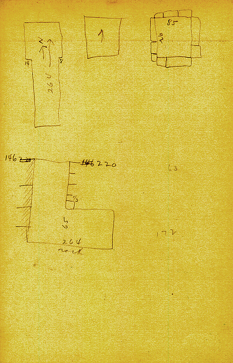 Maps and plans: G 2412, Shaft Z, notes