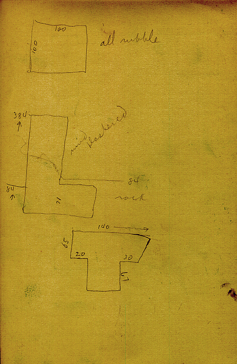 Maps and plans: G 2415, Shaft B, notes