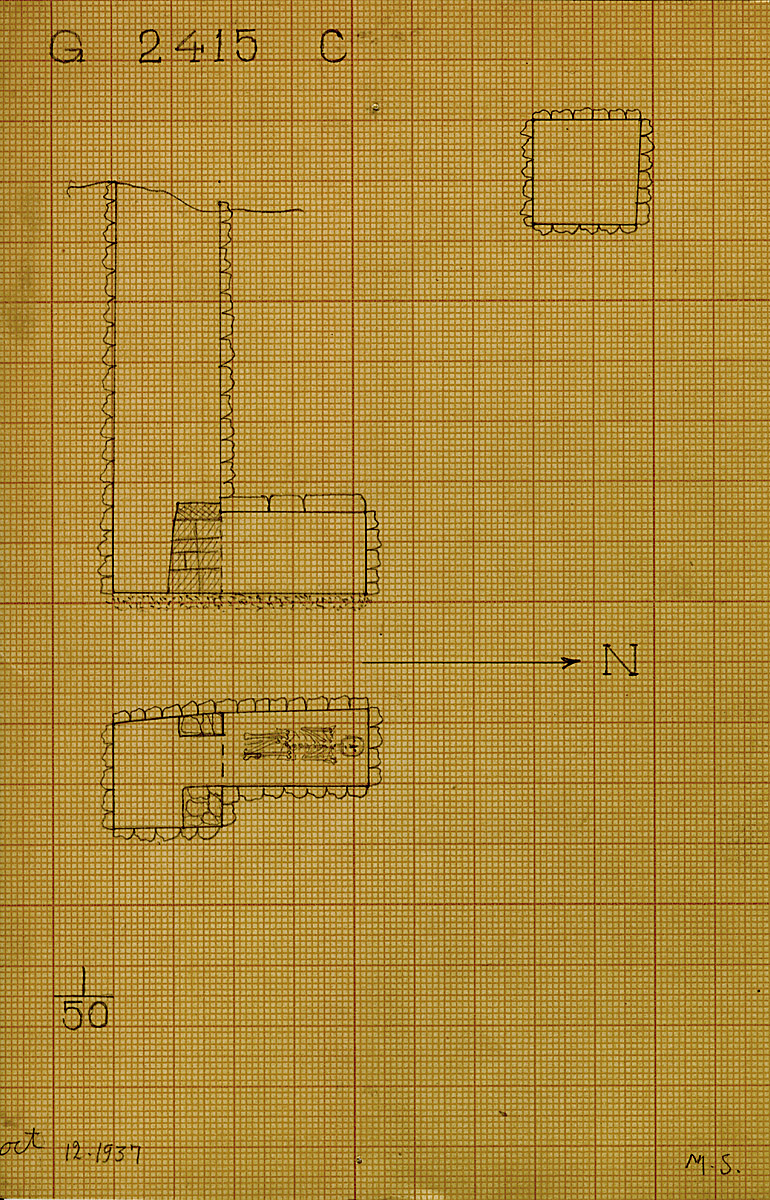 Maps and plans: G 2415, Shaft C