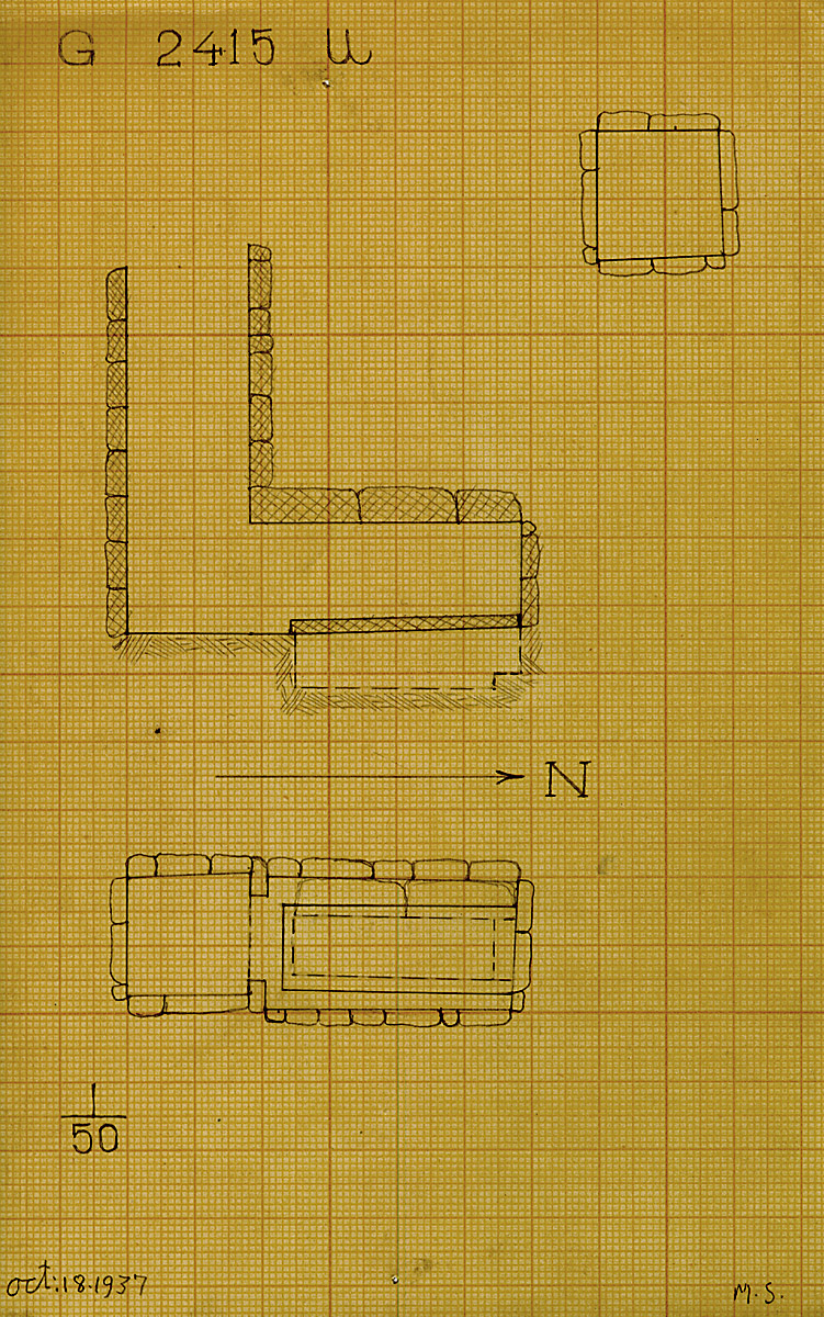 Maps and plans: G 2415, Shaft U