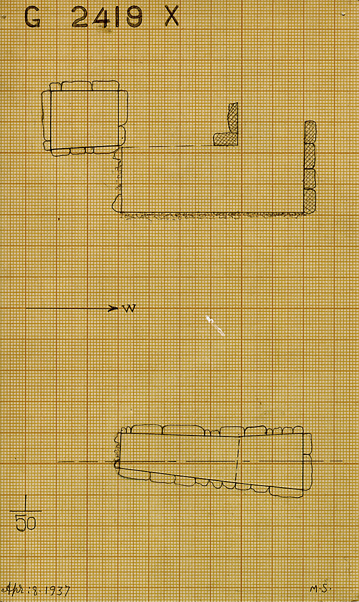 Maps and plans: G 2419, Shaft X
