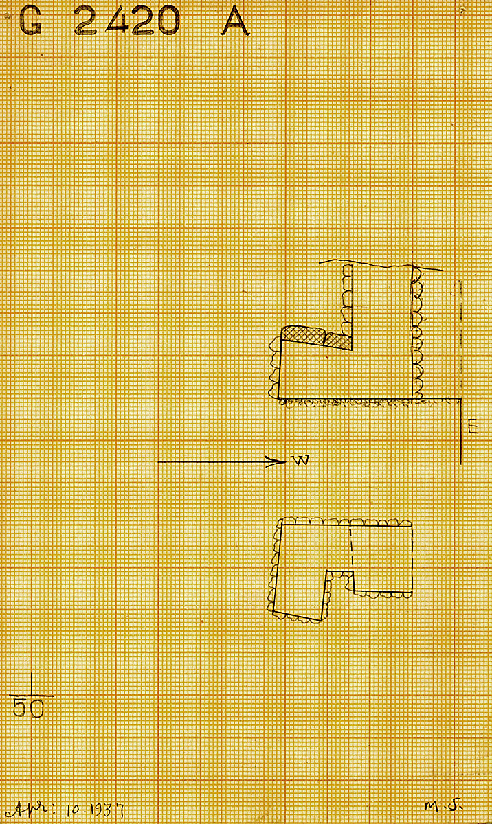 Maps and plans: G 2420, Shaft A