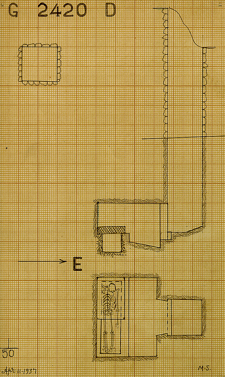 Maps and plans: G 2420, Shaft D
