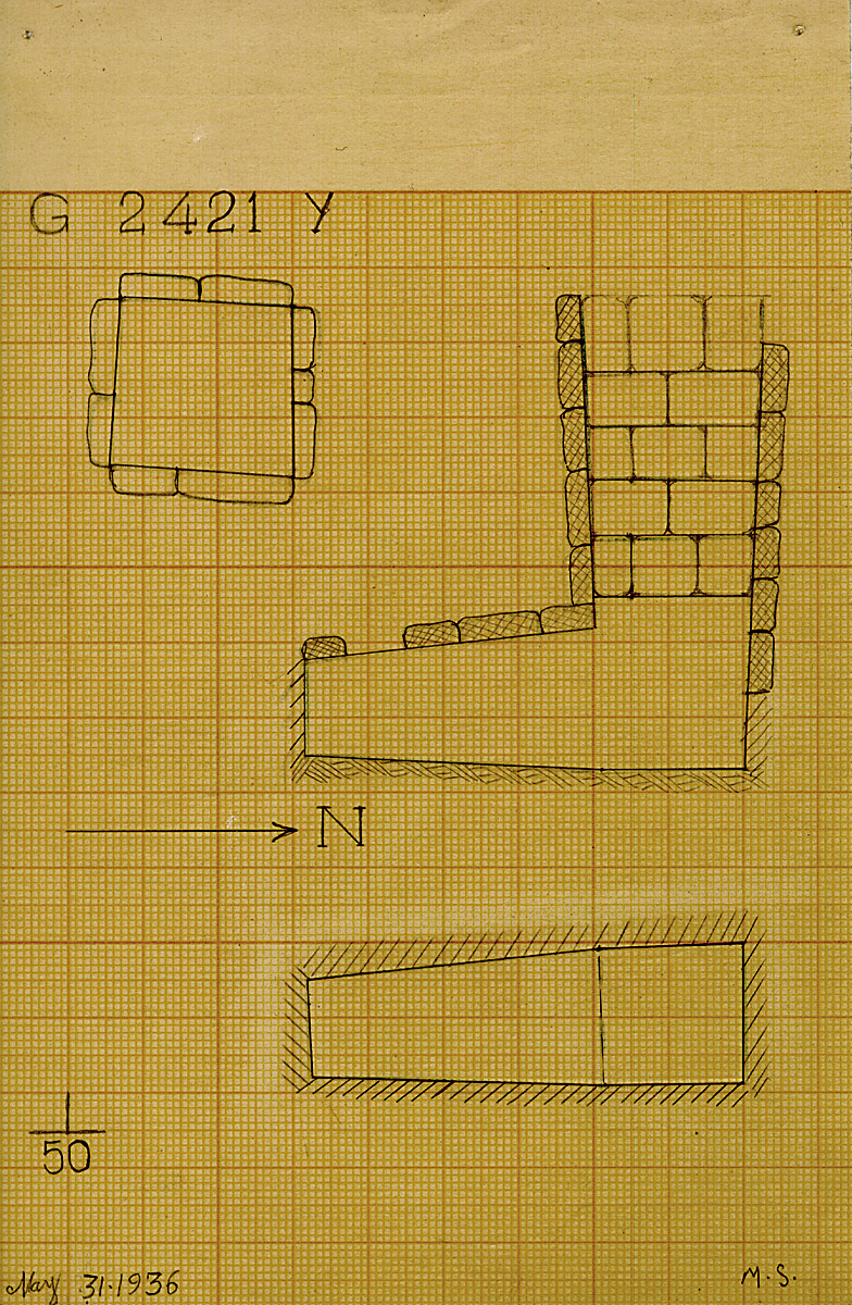Maps and plans: G 2421, Shaft Y