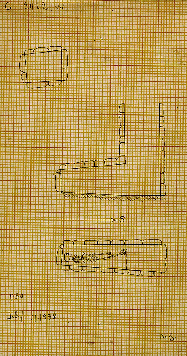Maps and plans: G 2422, Shaft W