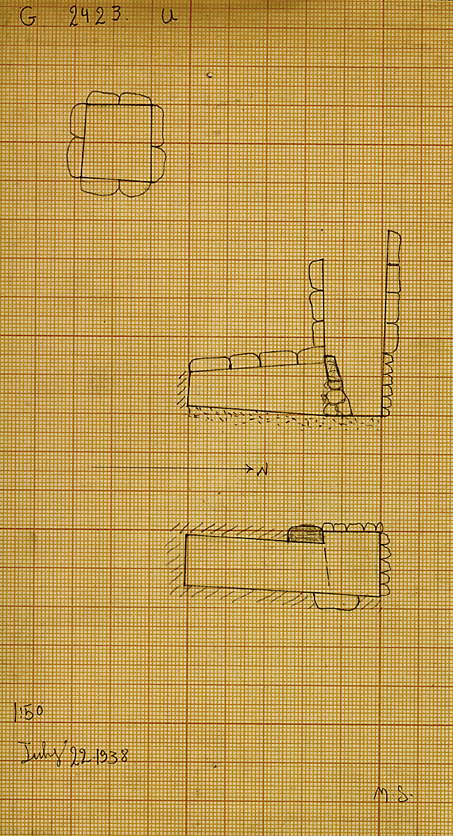 Maps and plans: G 2423, Shaft U