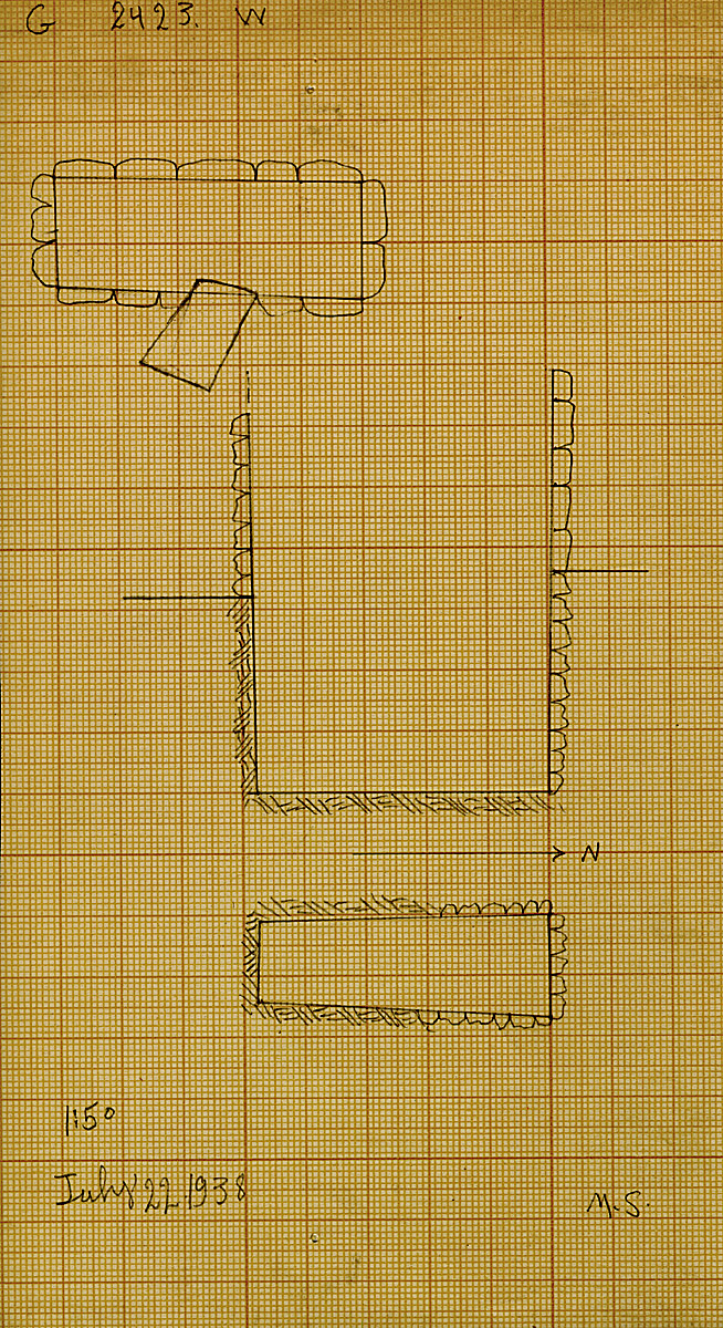 Maps and plans: G 2423, Shaft W