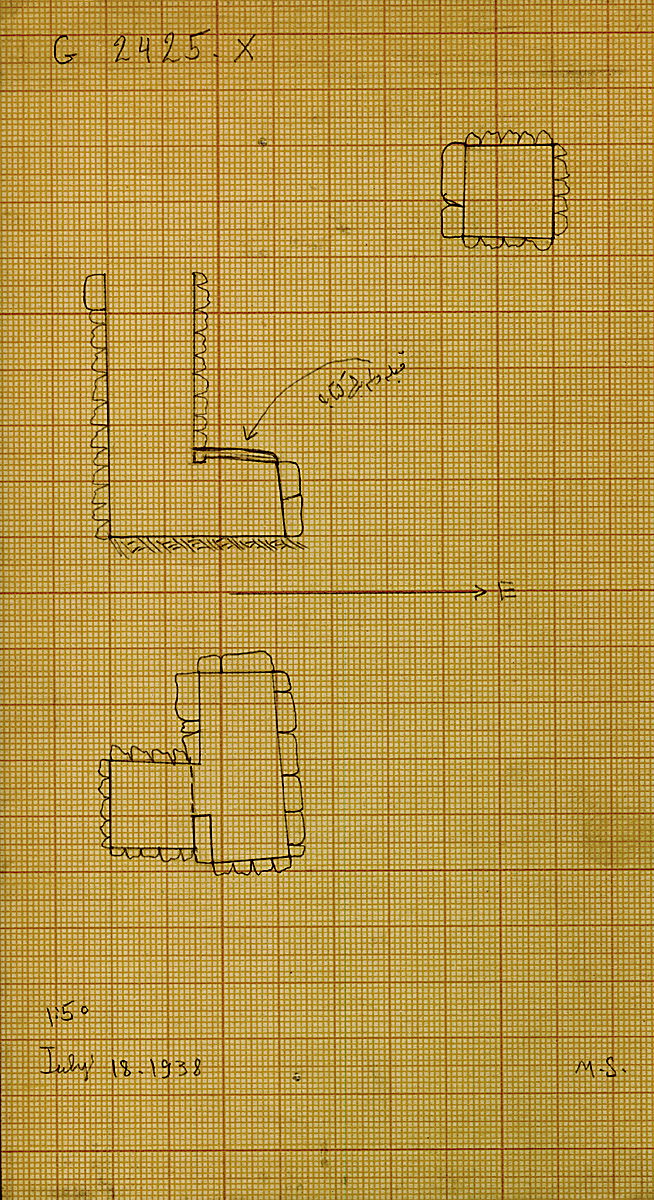 Maps and plans: G 2424+2425: G 2425, Shaft X