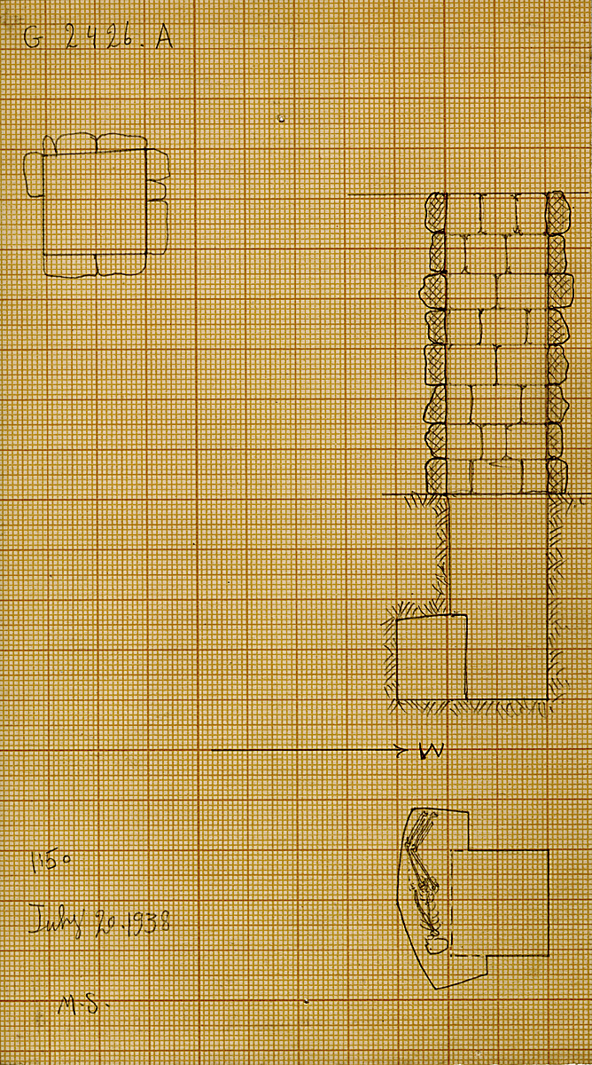 Maps and plans: G 2426, Shaft A