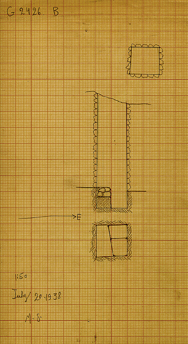 Maps and plans: G 2426, Shaft B