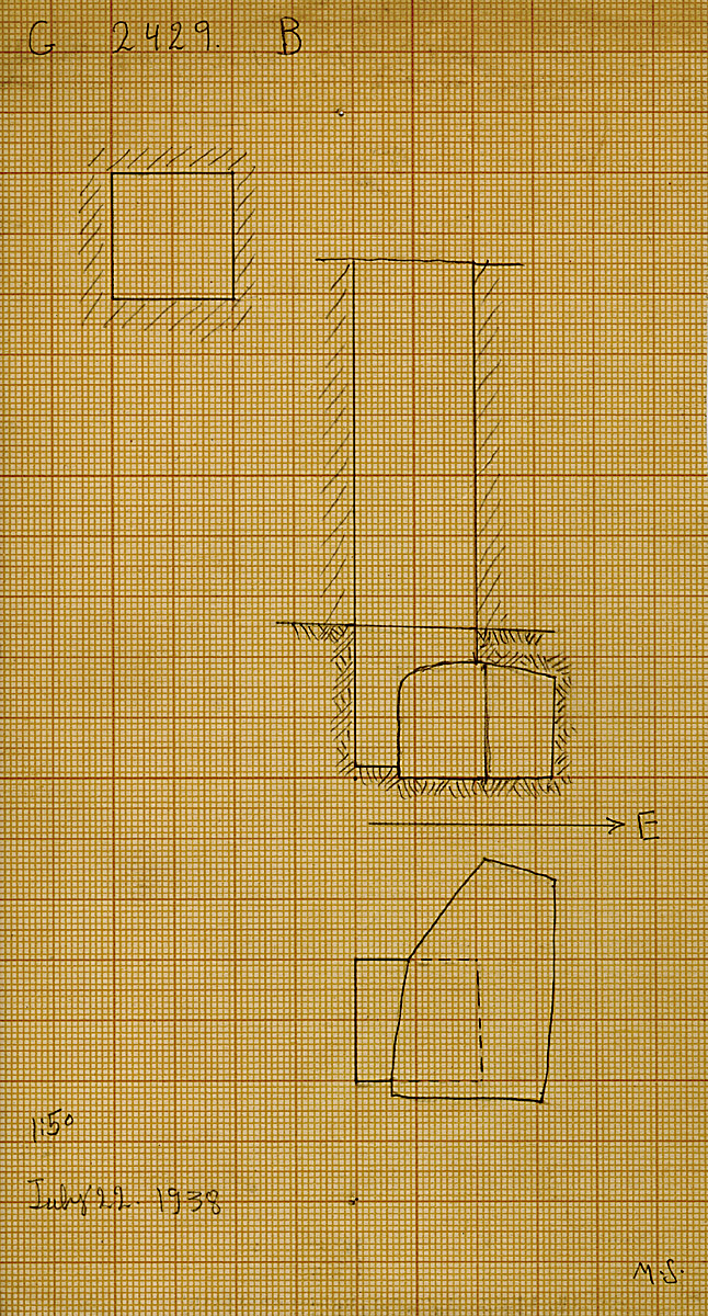 Maps and plans: G 2429, Shaft B