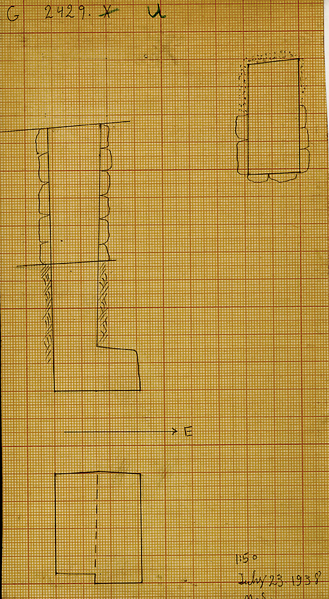 Maps and plans: G 2429, Shaft U