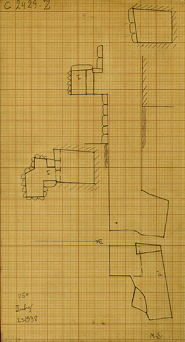 Maps and plans: G 2429, Shaft Z