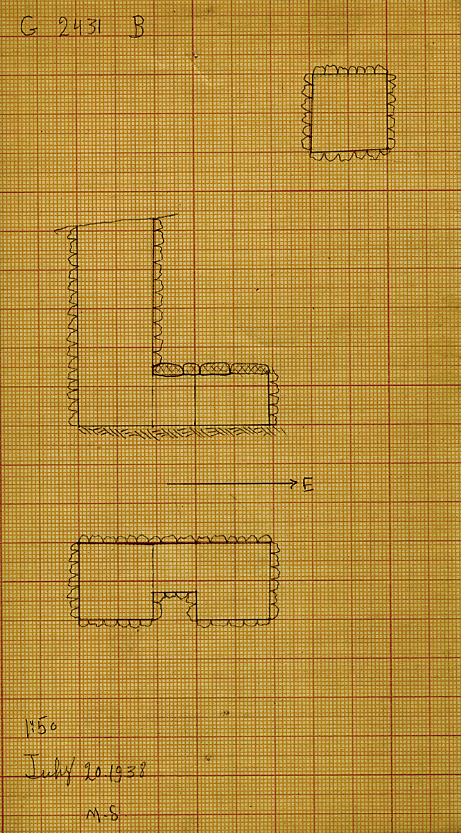 Maps and plans: G 2431, Shaft B