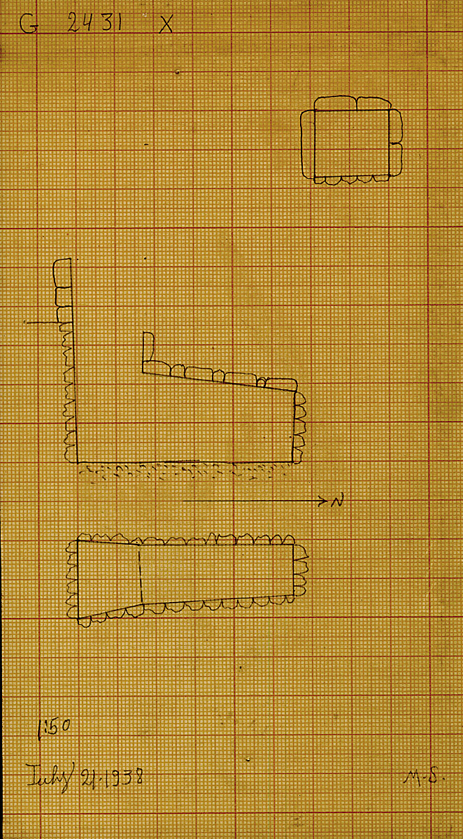 Maps and plans: G 2431, Shaft X