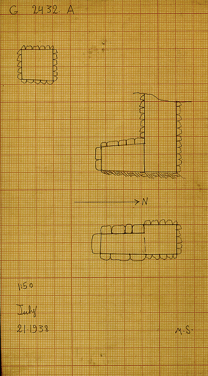 Maps and plans: G 2432, Shaft A