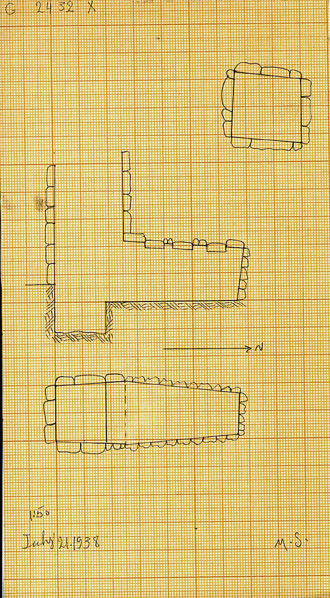 Maps and plans: G 2432, Shaft X