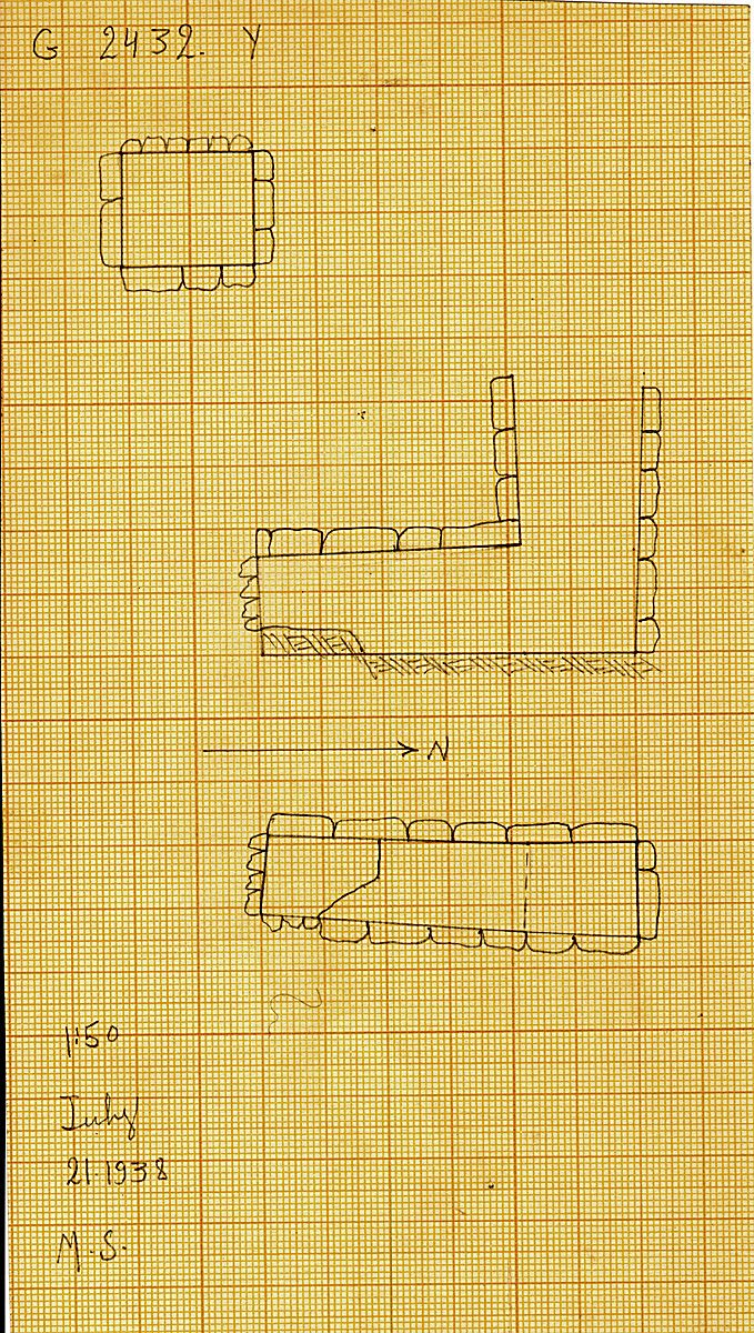 Maps and plans: G 2432, Shaft Y