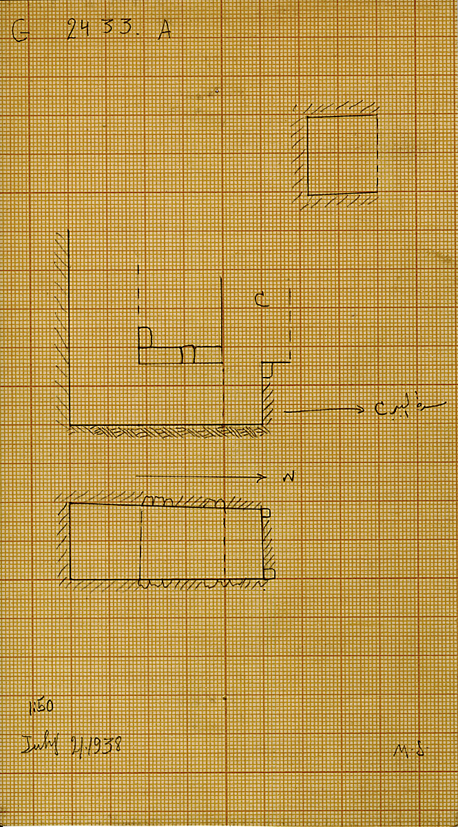 Maps and plans: G 2433, Shaft A