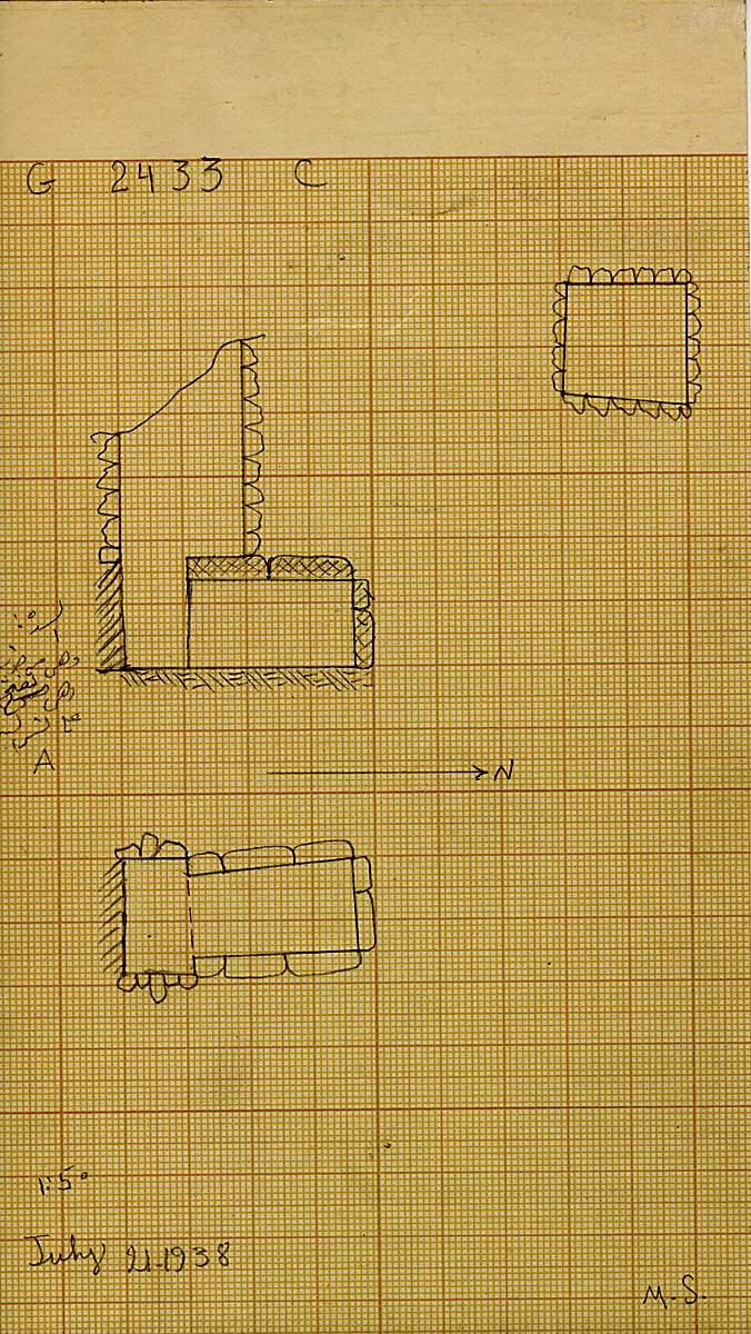 Maps and plans: G 2433, Shaft C