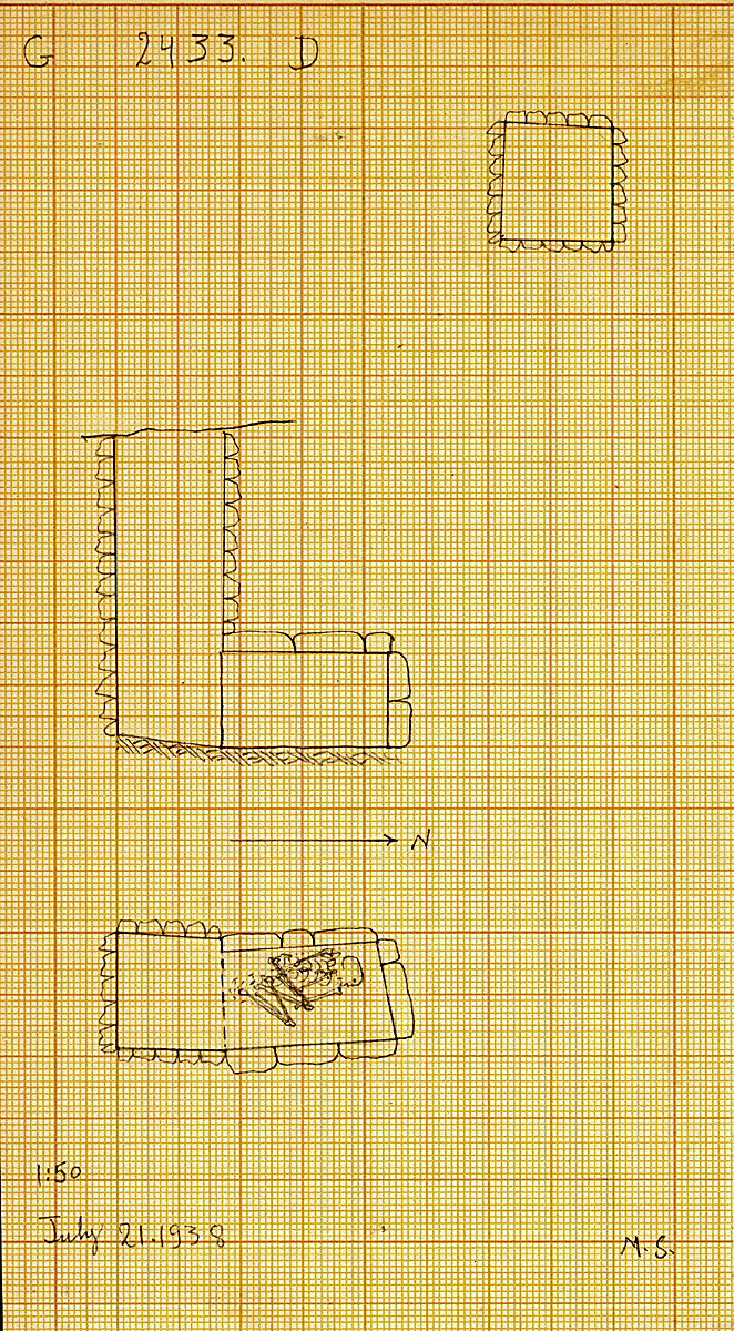 Maps and plans: G 2433, Shaft D