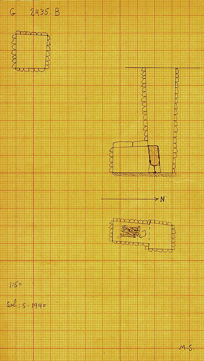 Maps and plans: G 2435, Shaft B