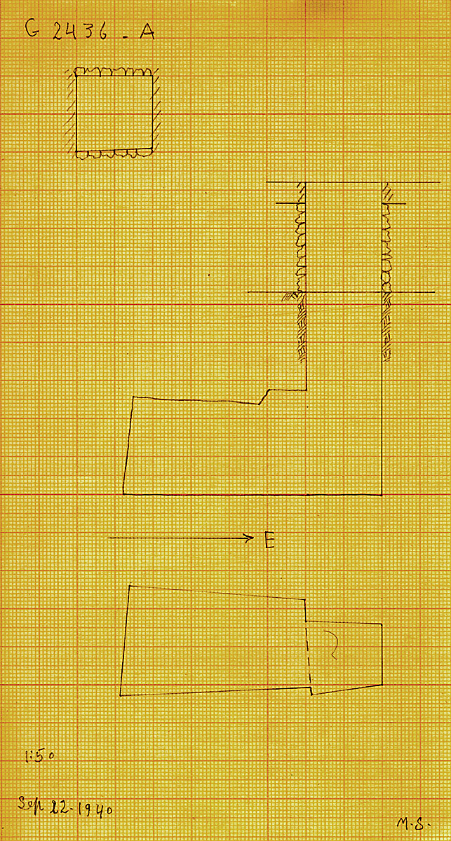 Maps and plans: G 2436, Shaft A