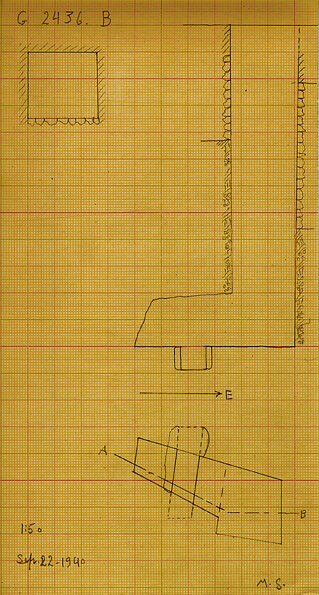 Maps and plans: G 2436, Shaft B