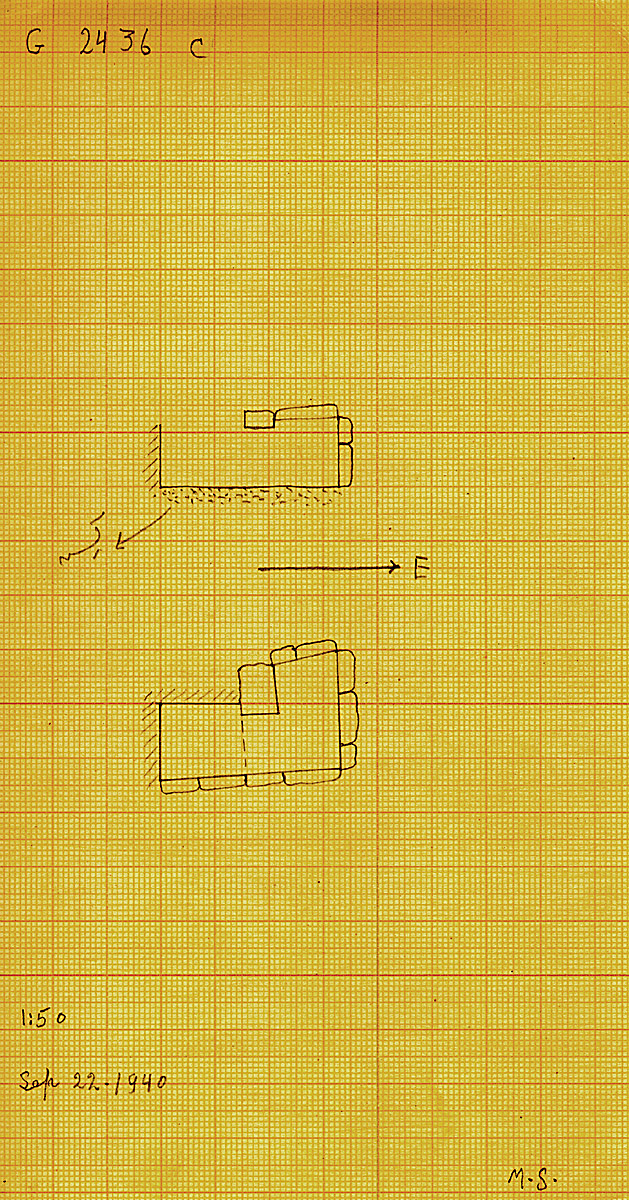 Maps and plans: G 2436, Shaft C