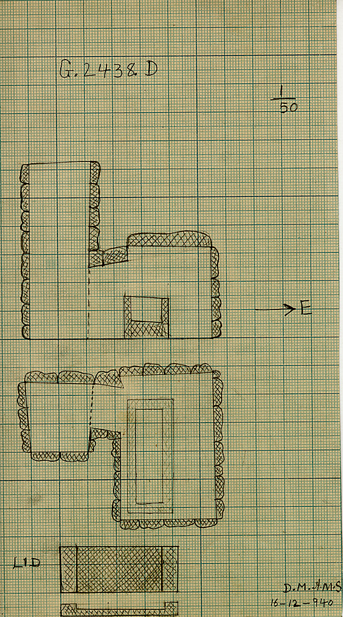 Maps and plans: G 2438, Shaft D