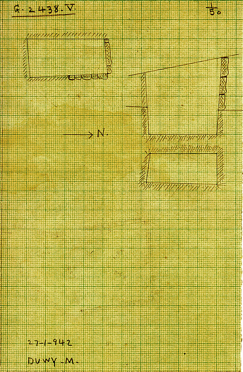 Maps and plans: G 2438, Shaft V