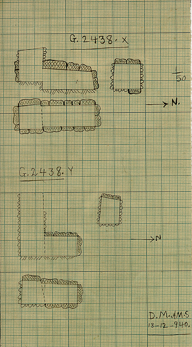 Maps and plans: G 2438, Shaft X and Y