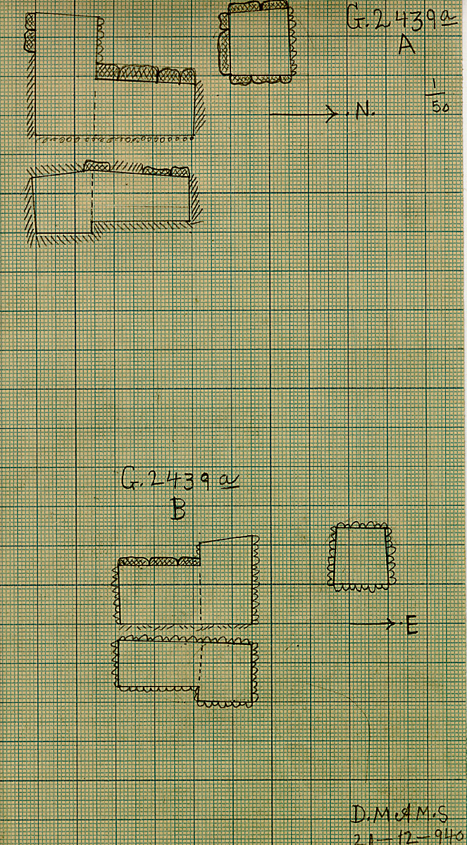 Maps and plans: G 2439a, Shaft A and B