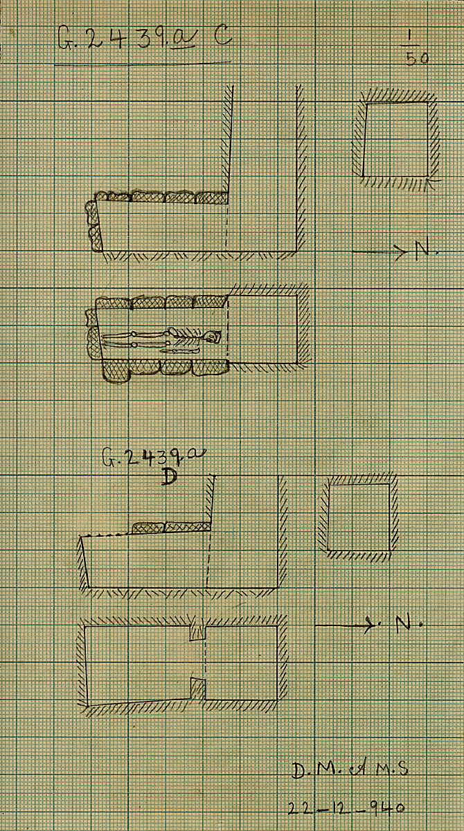 Maps and plans: G 2439a, Shaft C and D