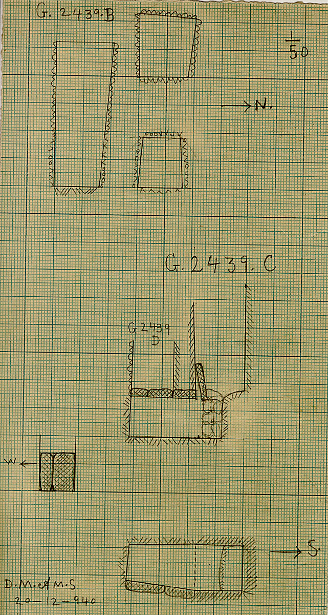 Maps and plans: G 2439, Shaft B and C