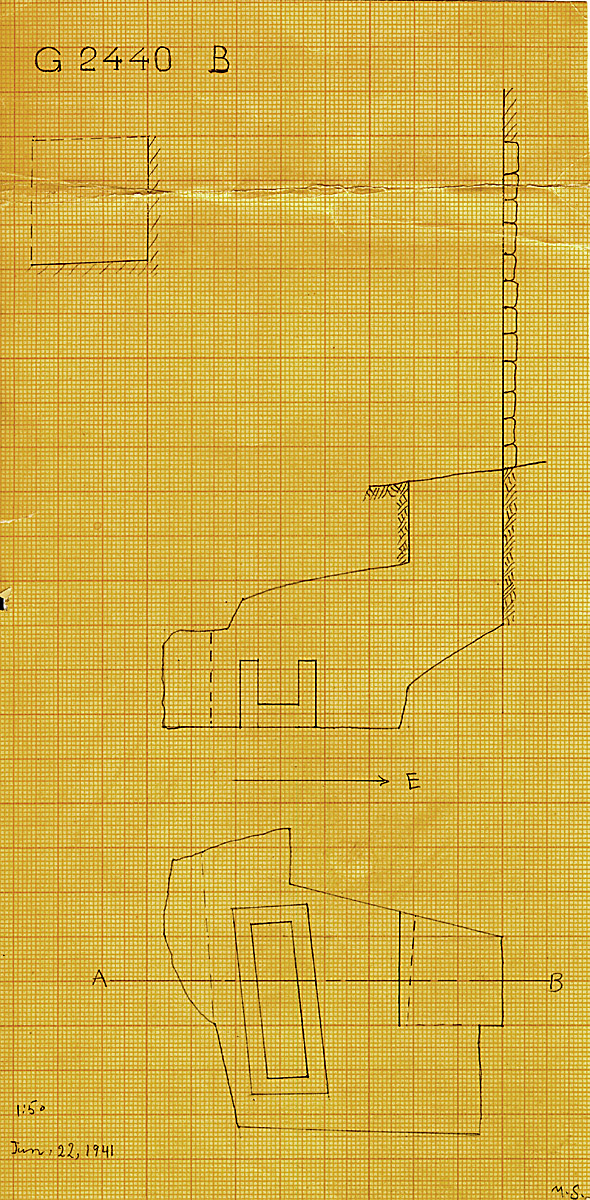 Maps and plans: G 2440, Shaft B