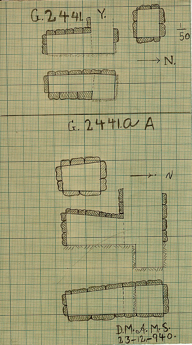 Maps and plans: G 2441, Shaft Y & G 2441a, Shaft A