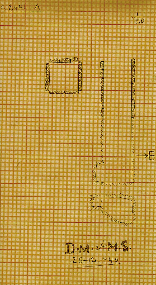 Maps and plans: G 2441, Shaft A