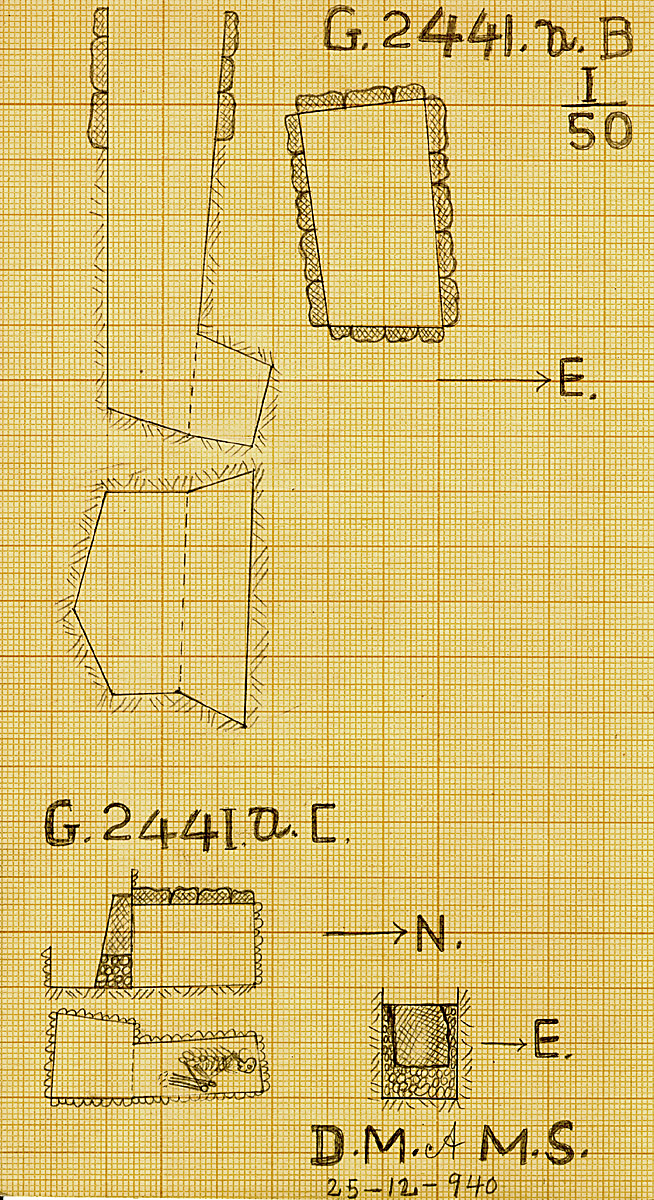 Maps and plans: G 2441a, Shaft B and C