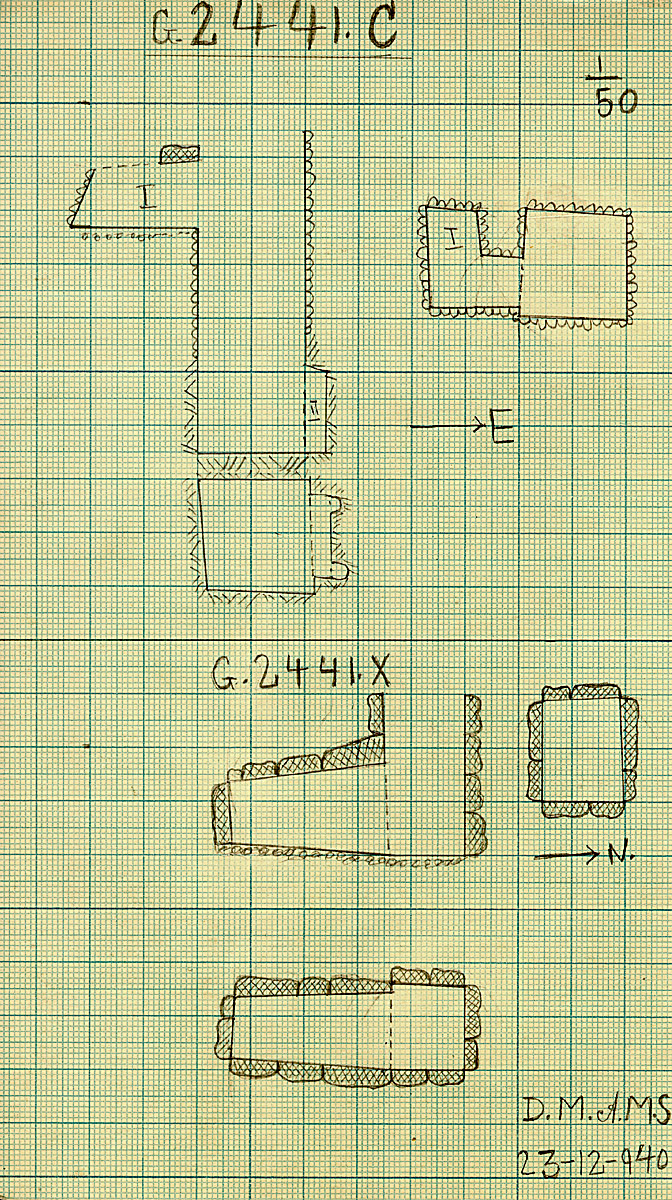 Maps and plans: G 2441, Shaft C and X