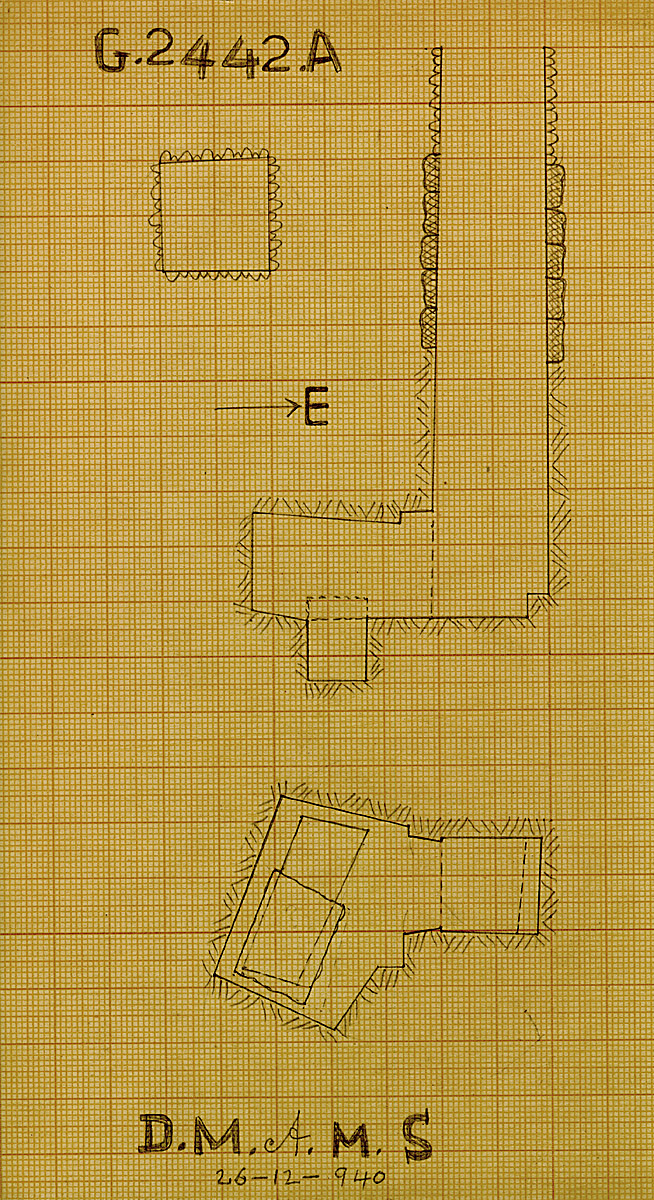 Maps and plans: G 2442, Shaft A