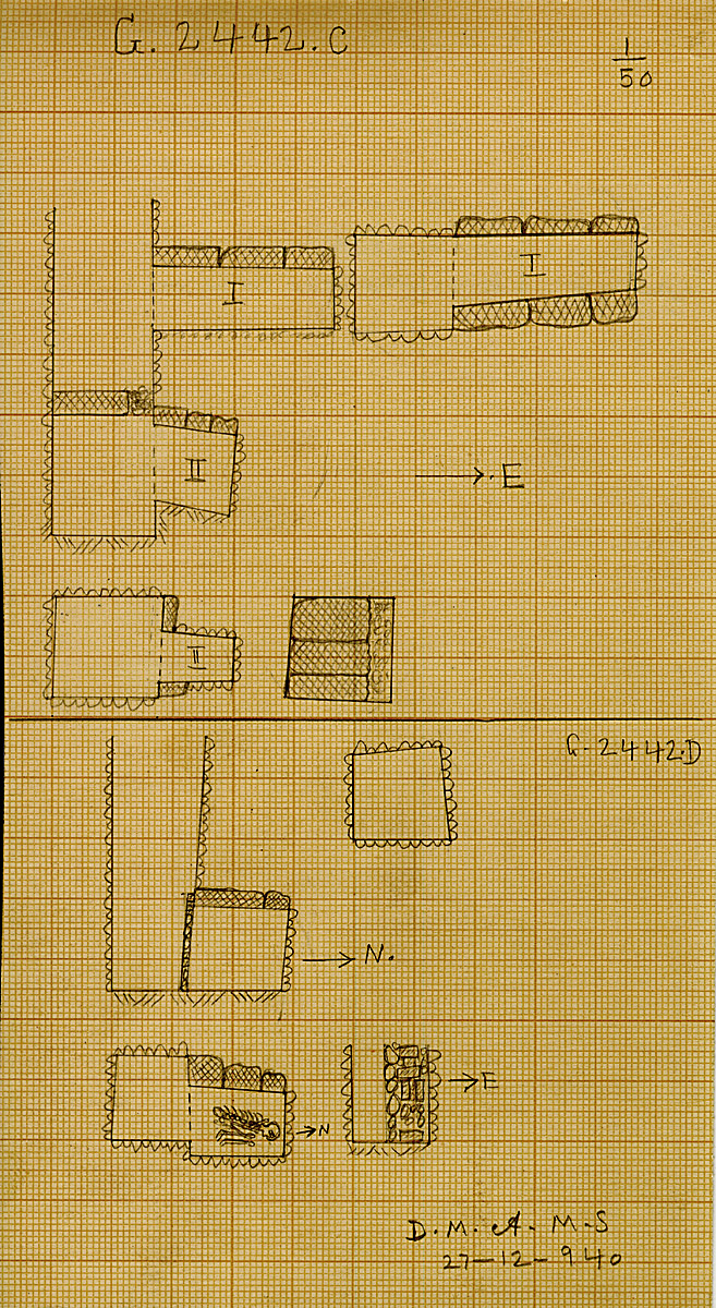 Maps and plans: G 2442, Shaft C and D