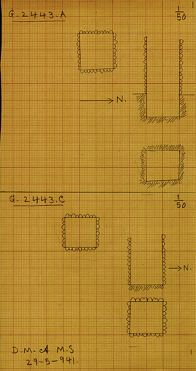 Maps and plans: G 2443, Shaft A and C