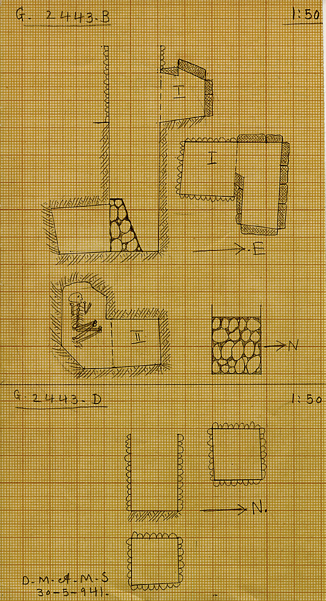 Maps and plans: G 2443, Shaft B and D